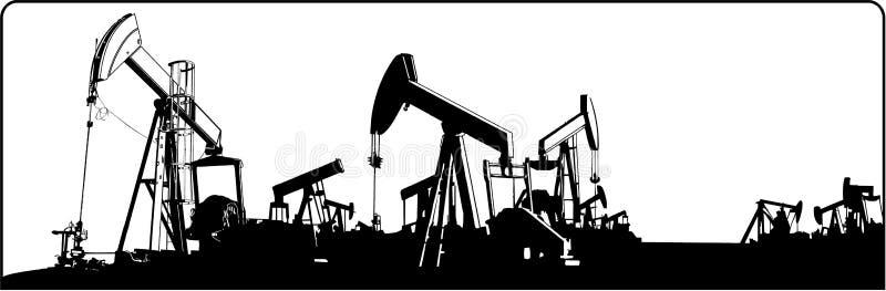 油田 向量例证