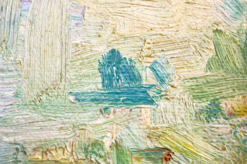 油画纹理 库存图片