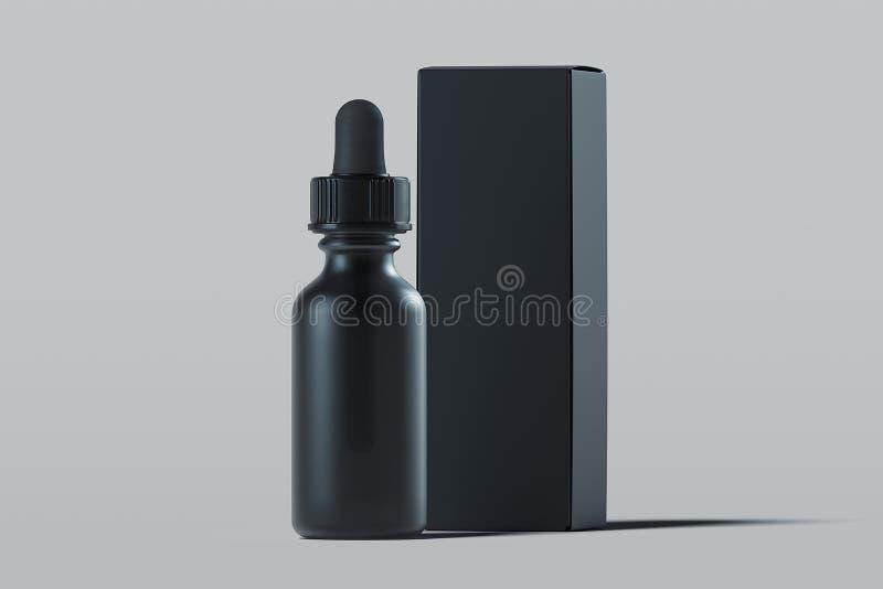 油的,奶油,化妆水化妆吸管 美容品包裹 3d翻译 皇族释放例证