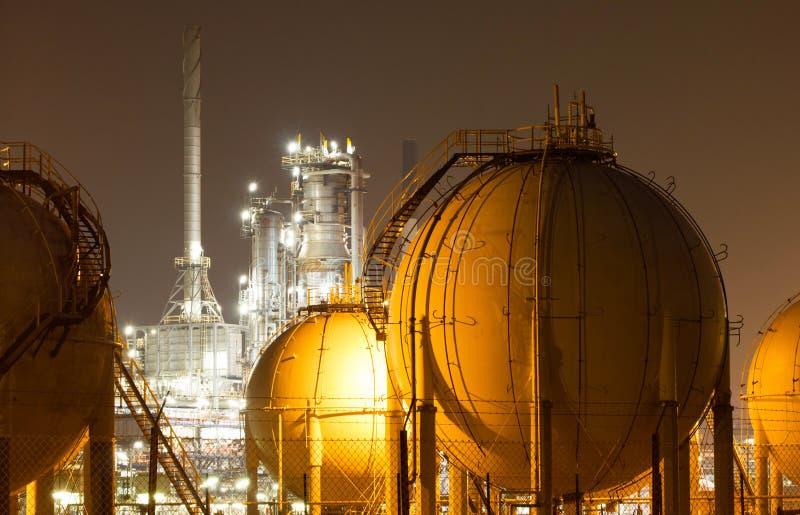 油精炼厂工厂 免版税库存图片