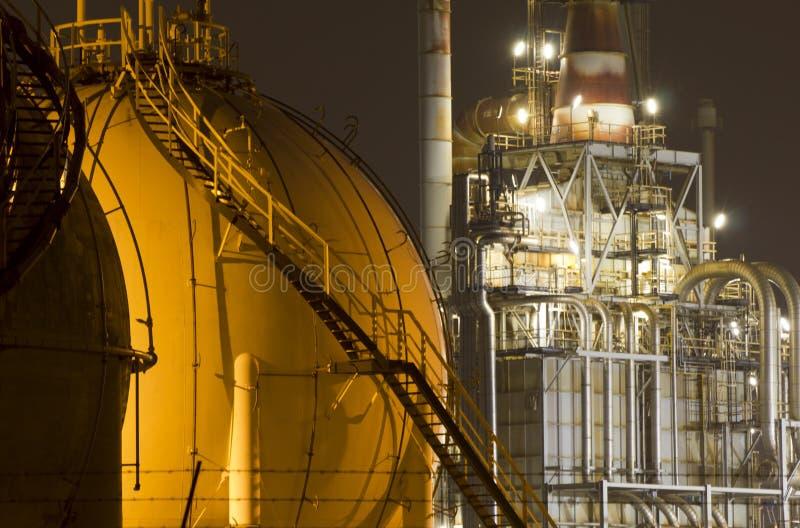 油精炼厂工厂 库存照片