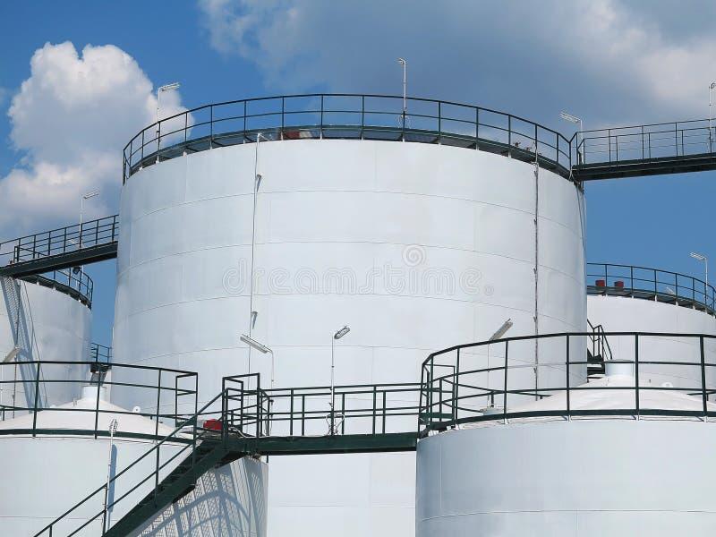 油罐和储存箱矿物油 库存照片