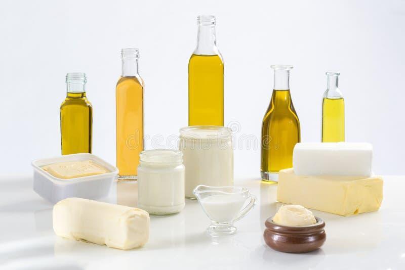 油脂烹饪品种  免版税库存图片