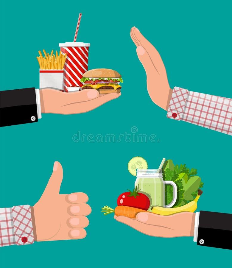 油腻胆固醇对 维生素食物 向量例证
