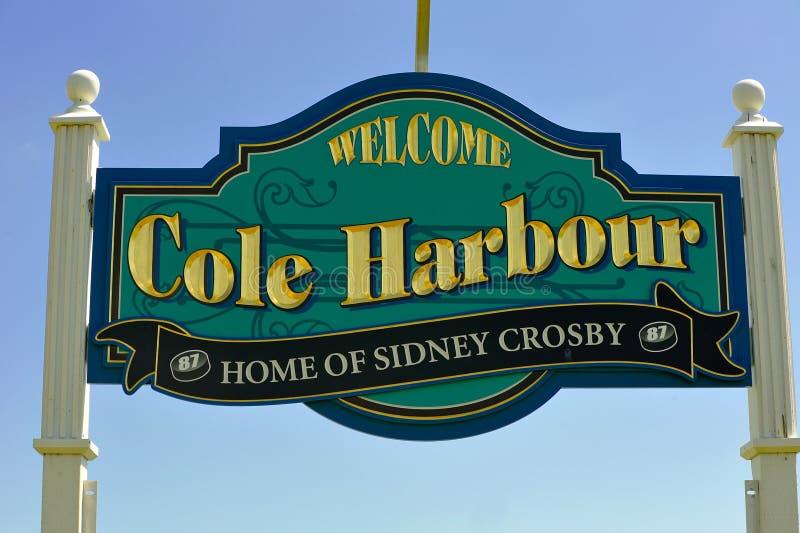 油菜港口标志感到骄傲为克罗斯比 免版税库存图片