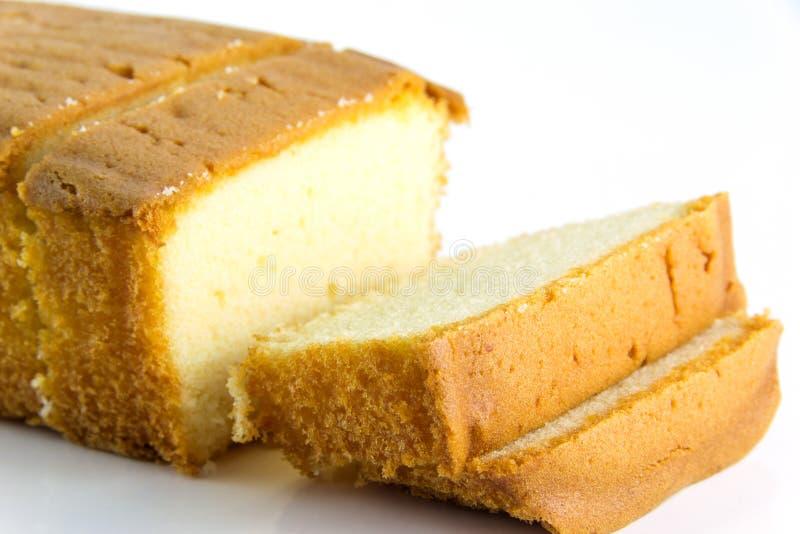 黄油蛋糕和切片 免版税库存照片