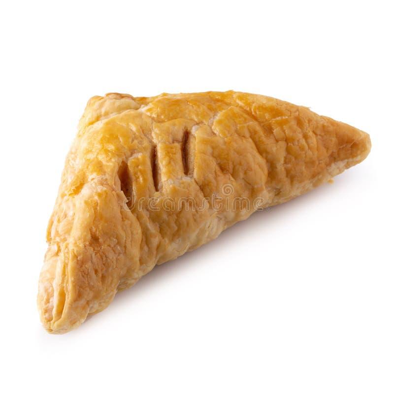 油酥点心小圆面包被隔绝在白色背景 图库摄影