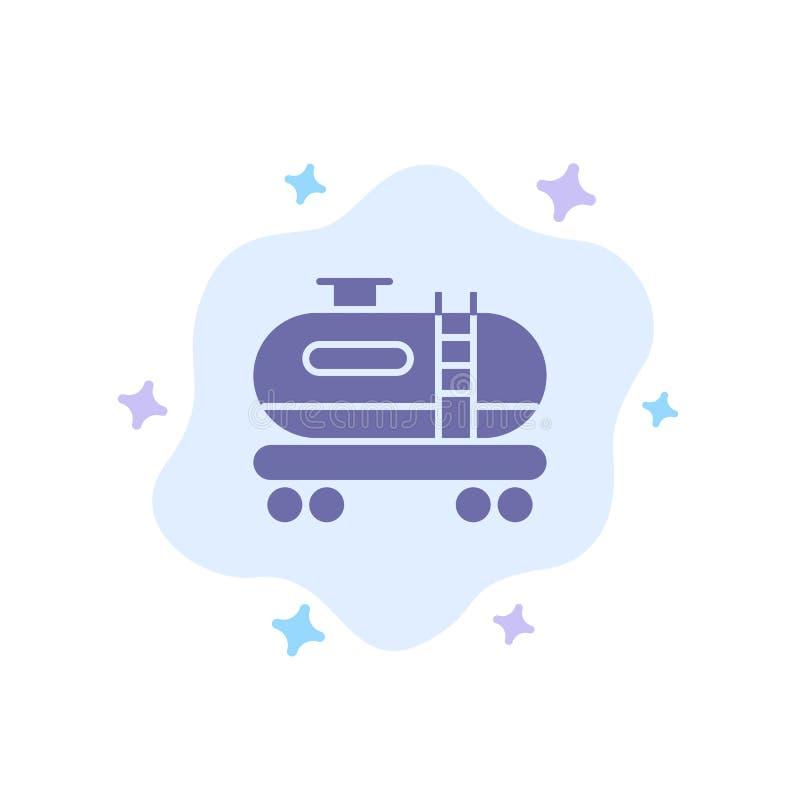 油,坦克,在抽象云彩背景的污染蓝色象 库存例证