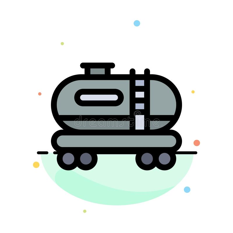 油,坦克,污染摘要平的颜色象模板 皇族释放例证