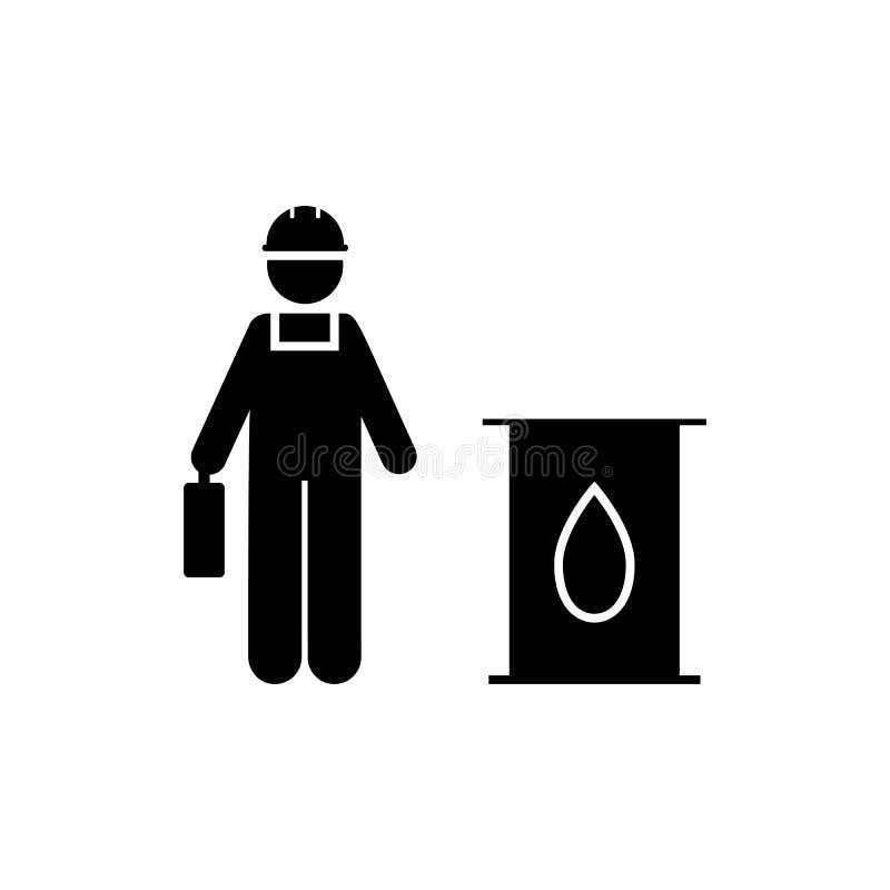 油,工厂,产业,制造,人象 制造的象的元素 r r 库存例证