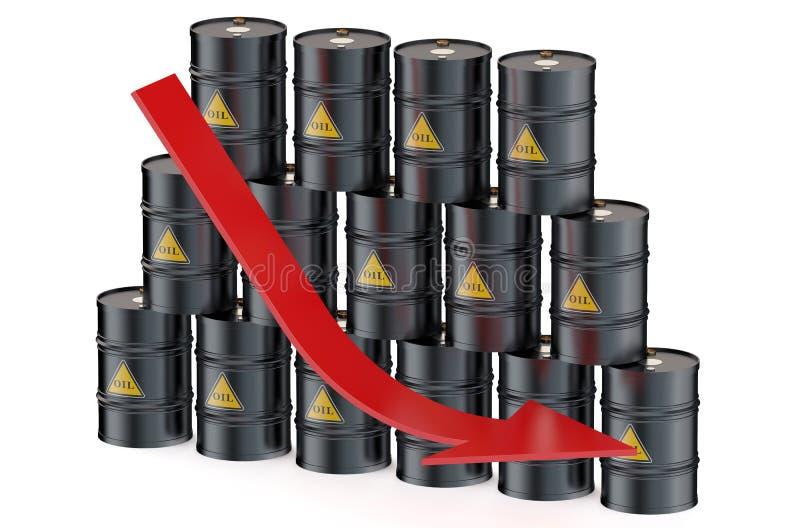 油价下跌的概念 库存例证