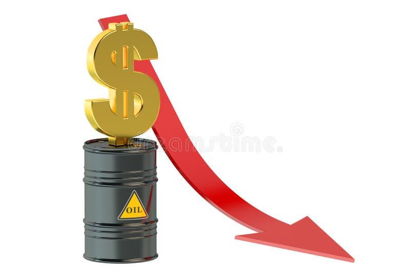 油价下跌的概念 皇族释放例证