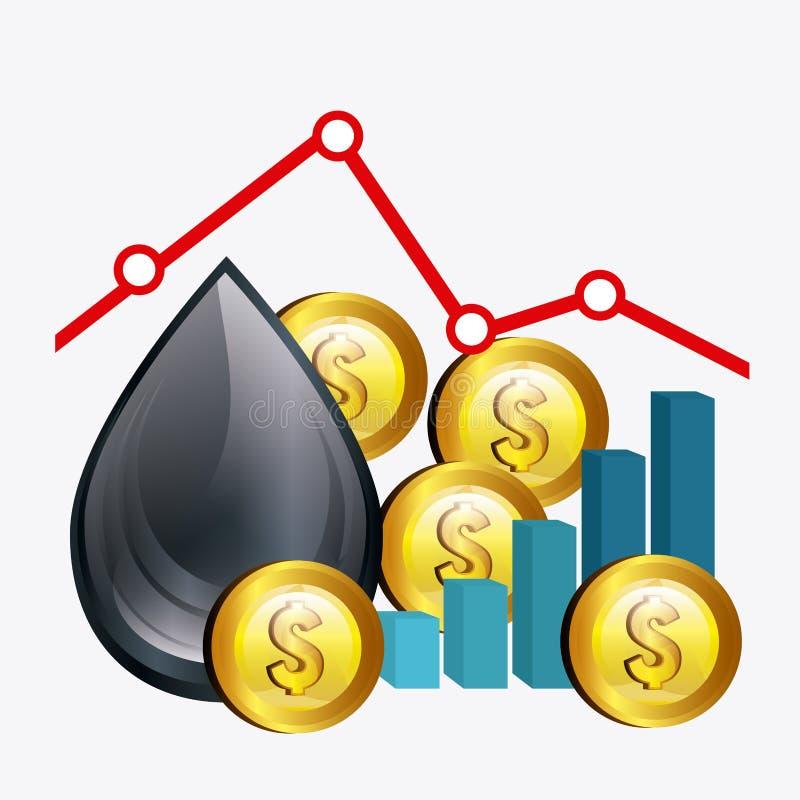 油价产业 皇族释放例证