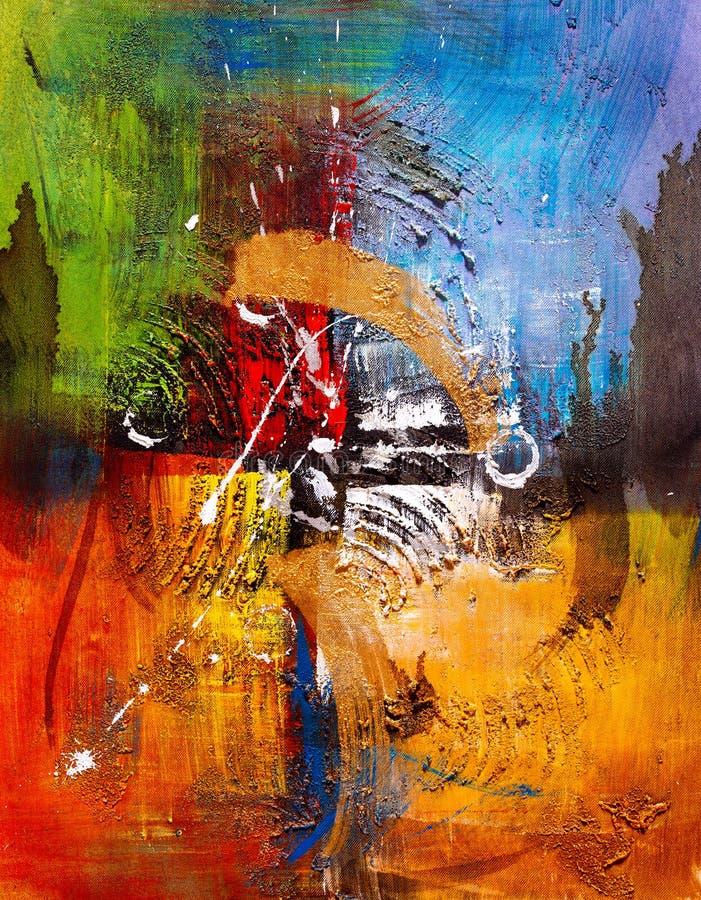 油画-抽象 向量例证
