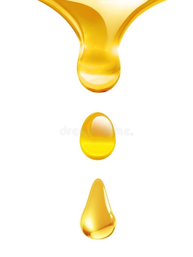 水滴油 皇族释放例证