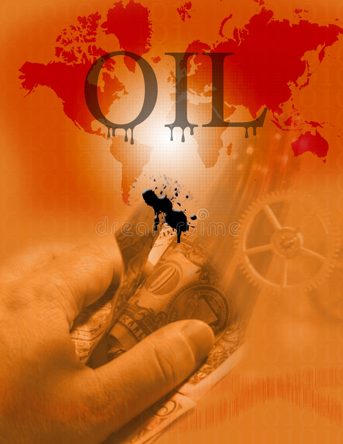 油 皇族释放例证