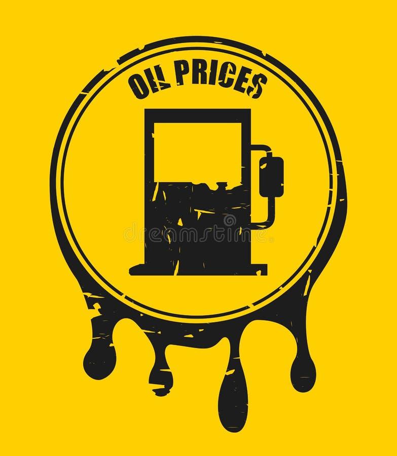 油价 皇族释放例证