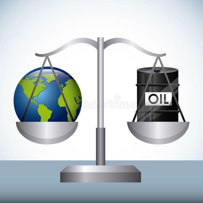 油价 向量例证