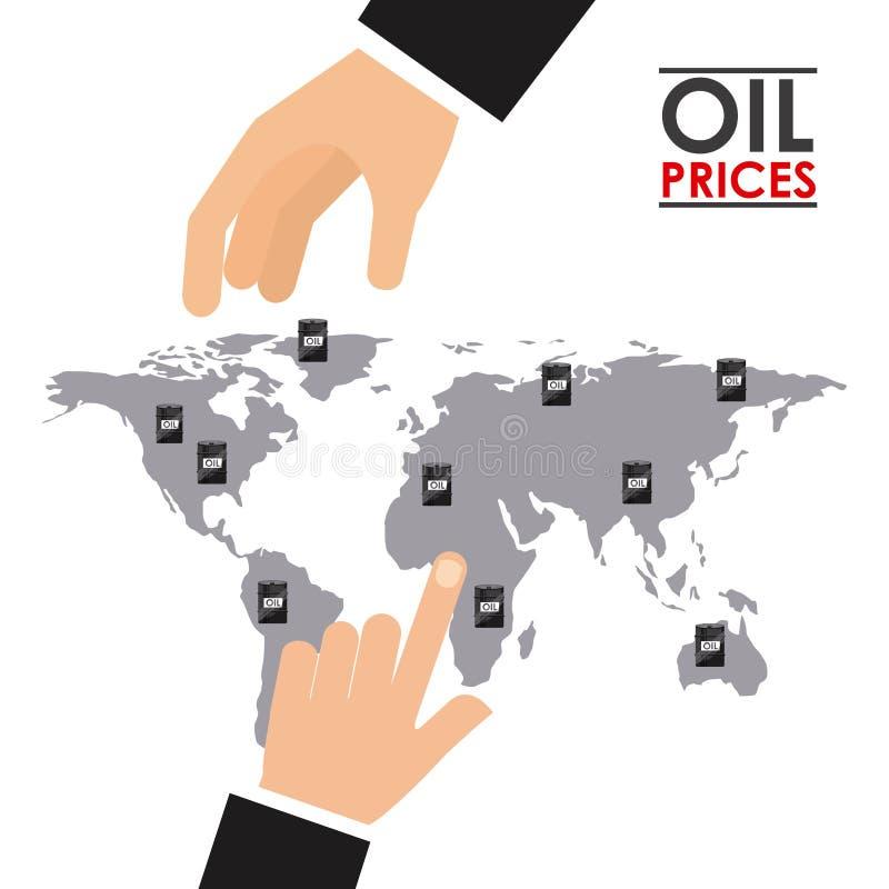 油价 库存例证