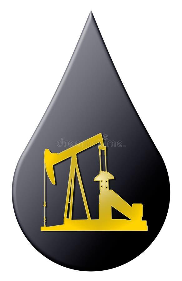 油 库存例证