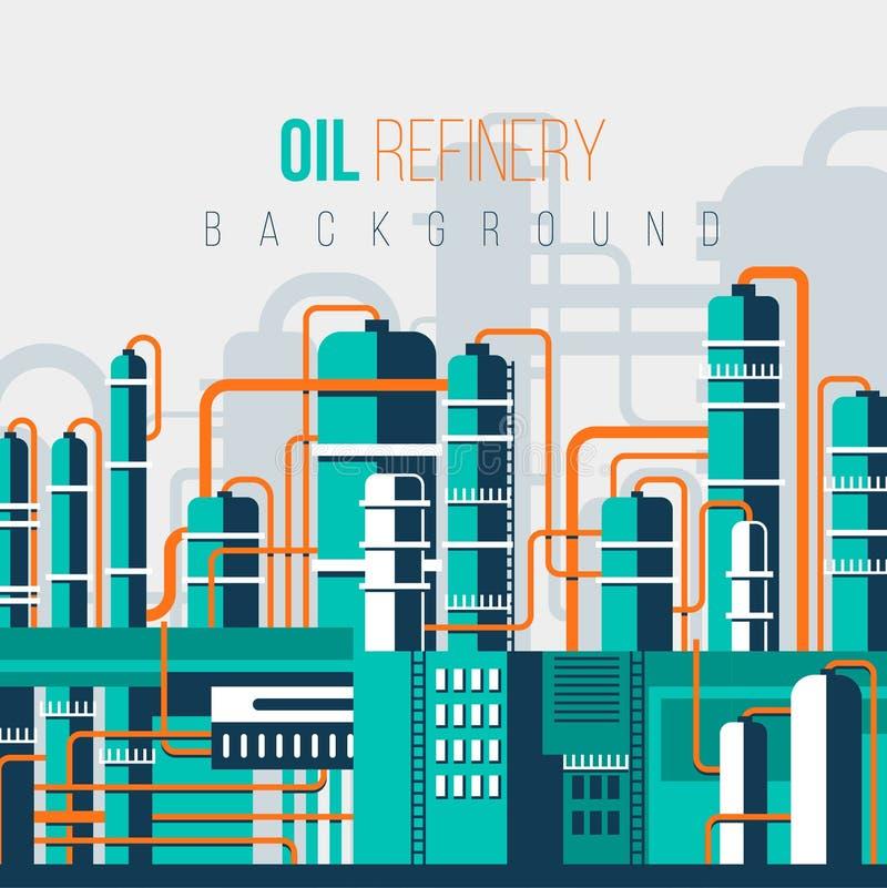 油REFINERY-2 向量例证