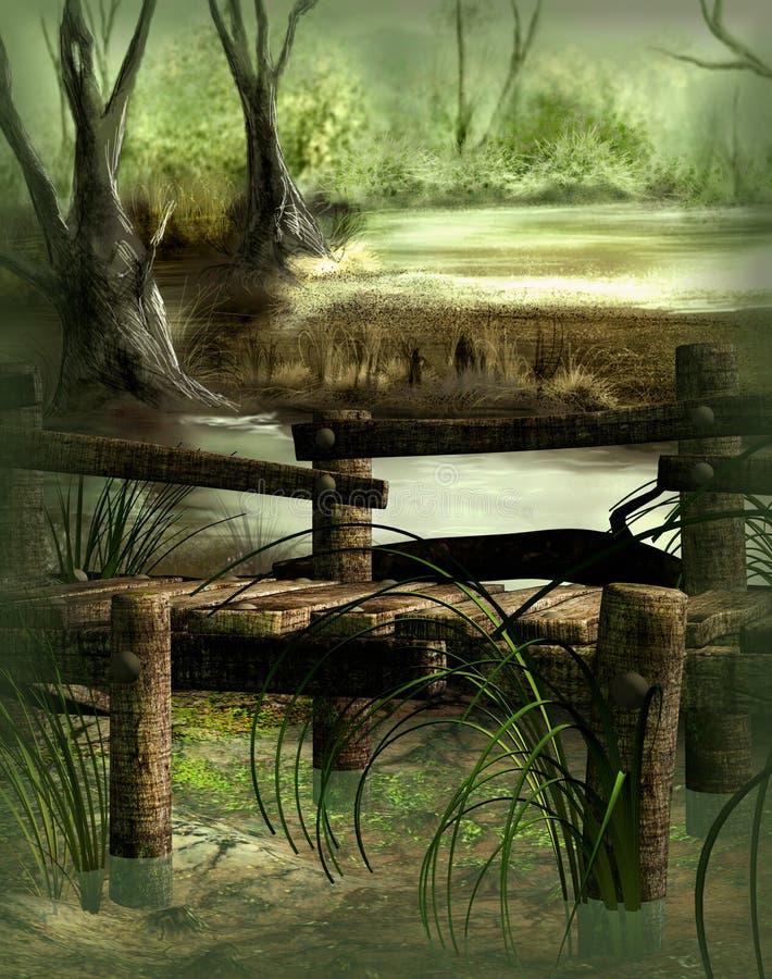 沼泽 向量例证