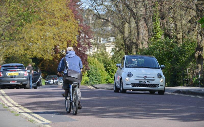 沿公园路的人通行证 免版税库存图片