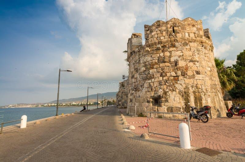 沿城市口岸,希腊的Kos墙壁 图库摄影