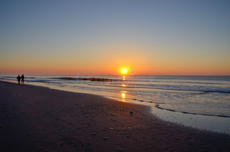 沿大西洋海岸线的日出 免版税库存图片