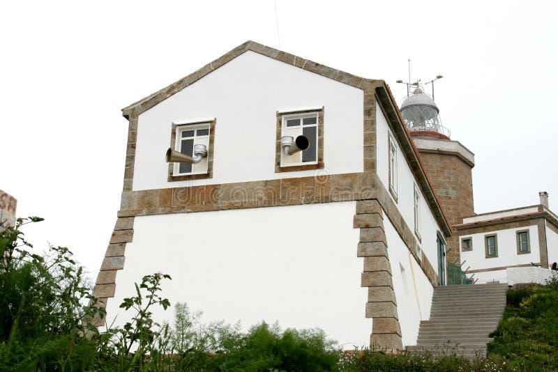 沿大西洋灯塔海洋西班牙 免版税图库摄影