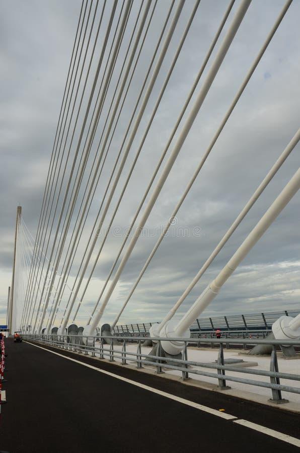 沿桥梁 库存照片