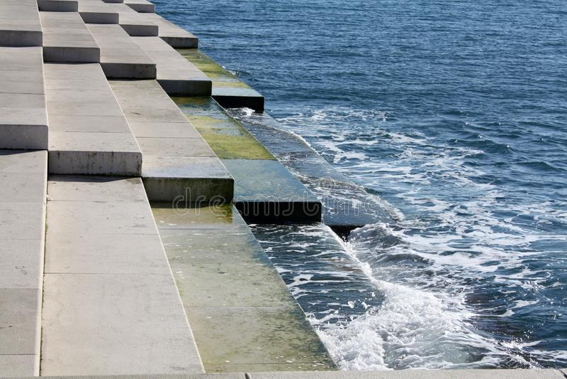 沿海在扎达尔 免版税图库摄影