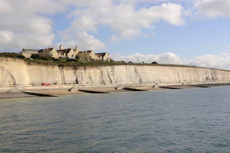沿海岸区和Roedean学校在布赖顿。英国 库存照片