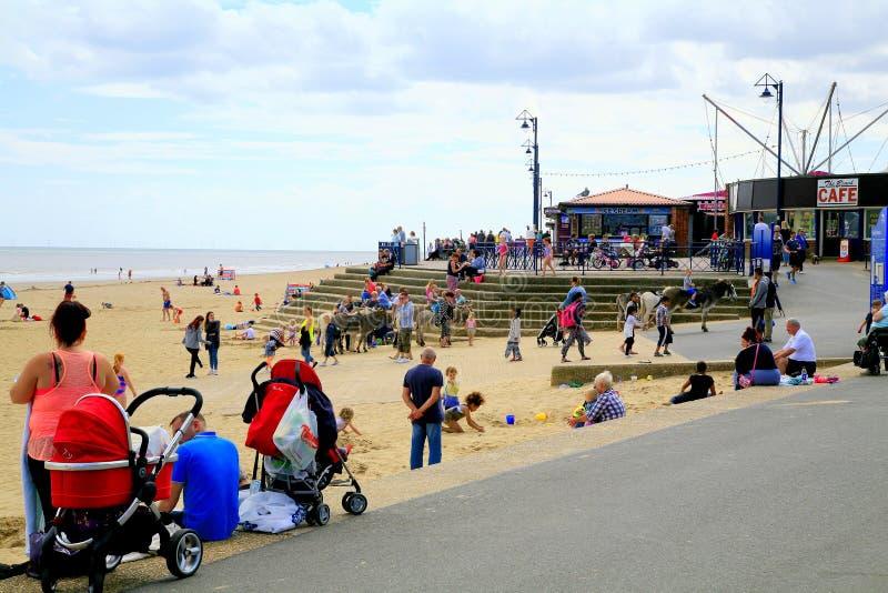 沿海岸区, Mablethorpe 免版税库存照片