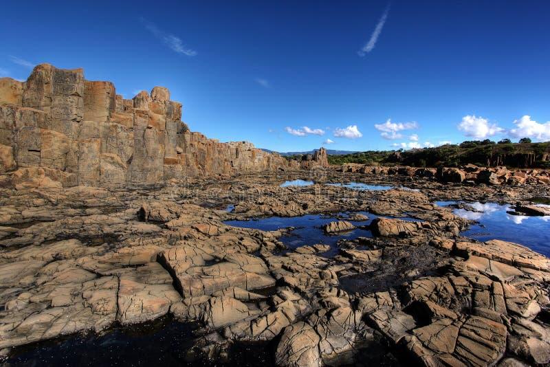沿海形成岩石 免版税库存照片