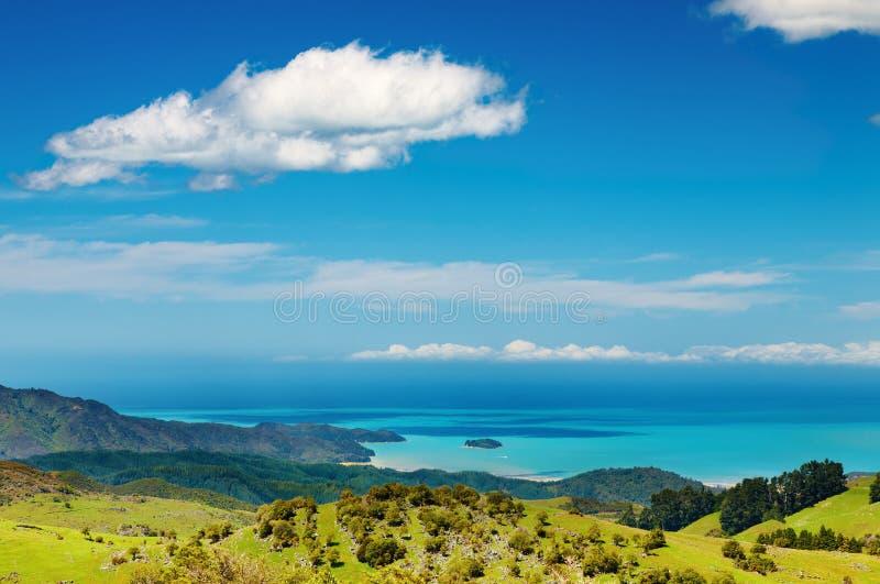 沿海新的视图西兰 库存照片