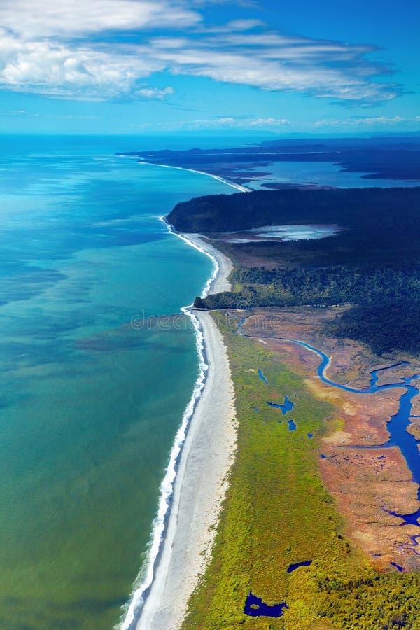 沿海新的视图西兰 免版税库存图片