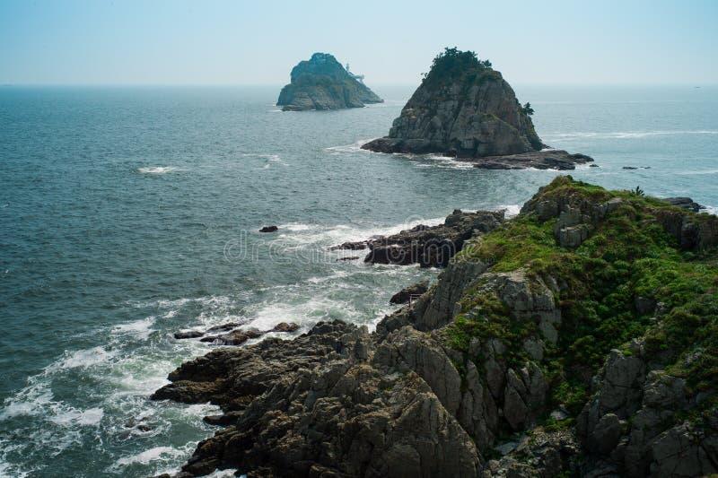 沿海海岛在釜山,韩国 库存图片