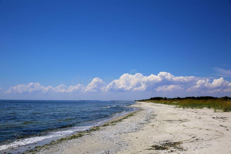 沿海海滩的风景 免版税库存图片