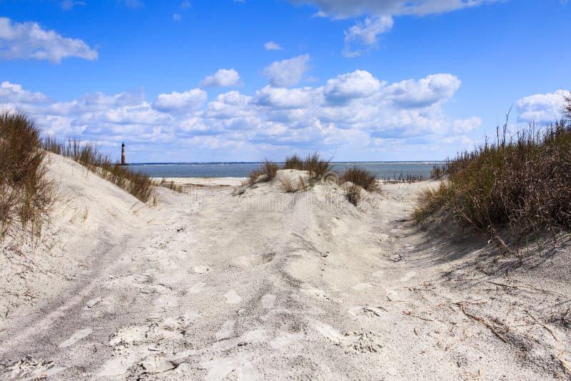 沿海海滩场面 免版税库存照片