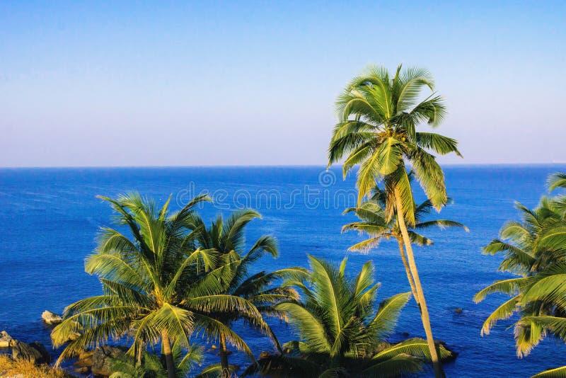 沿海热带天堂视图的风景 免版税图库摄影