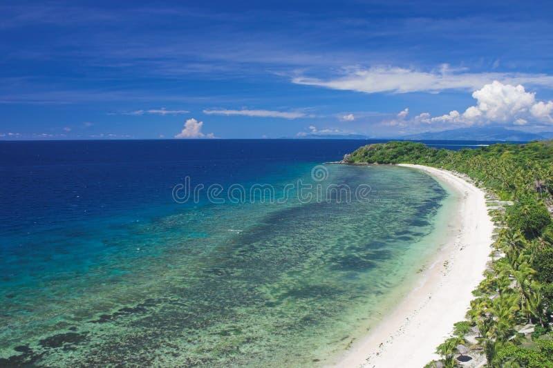 沿海的海滩 免版税库存照片
