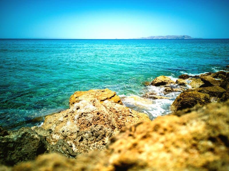 沿海看法风景 免版税库存照片