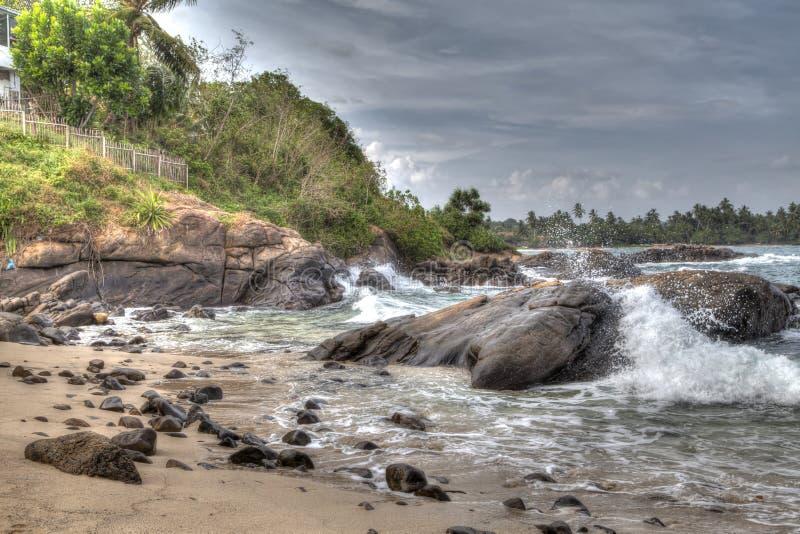 沿海风景在印度洋 库存图片