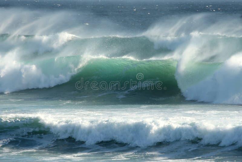 沿海风雨如磐的通知 库存图片