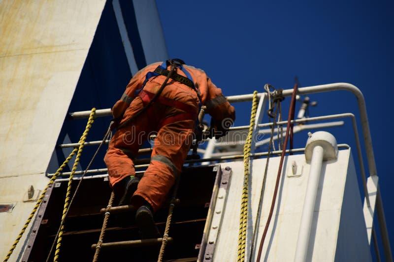 沿着走雅各布` s梯子的海员 库存照片