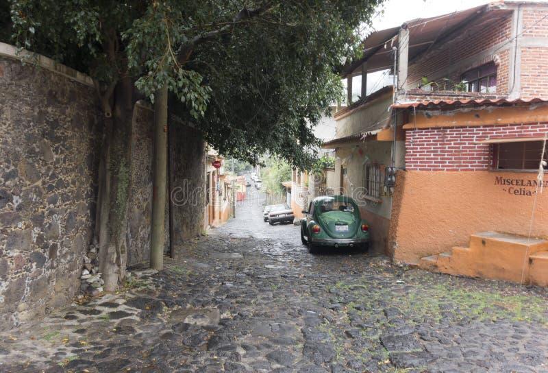 沿街道,墨西哥城,墨西哥的大厦 库存图片