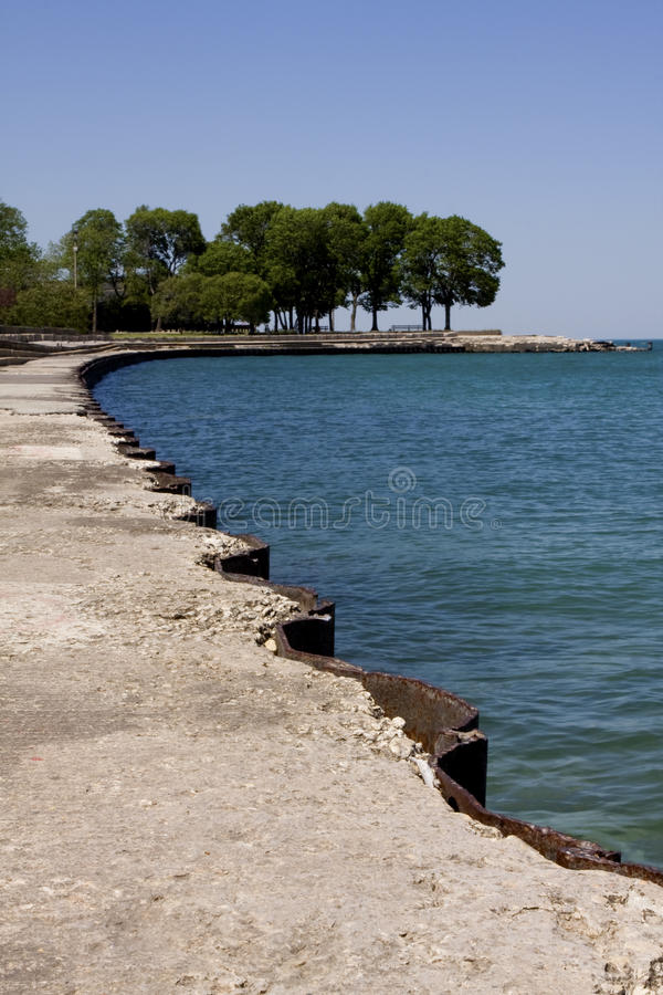 沿路径水 免版税库存图片