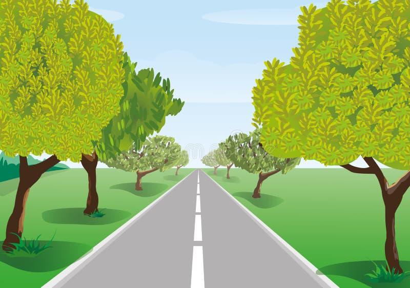 沿路结构树 向量例证