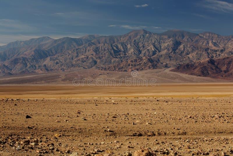 沿Badwater路的看法在死亡谷国家公园, Californ 免版税库存照片